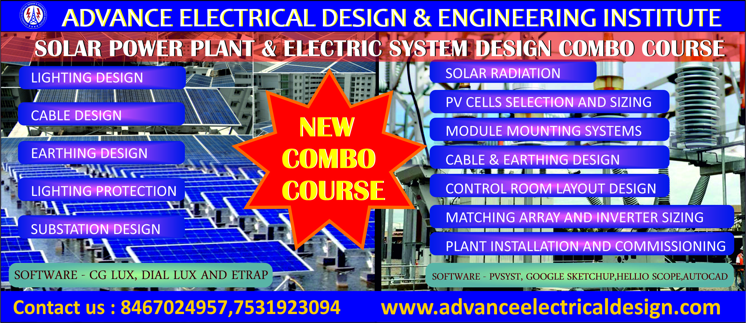 Solar power Plant design course institute